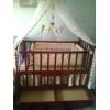 Манеж детский спальный деревянный